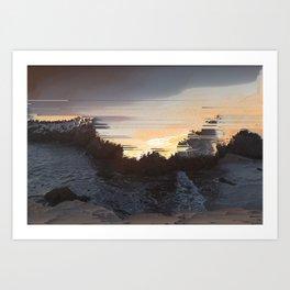 Malibu Shore Pixel Sort Art Print