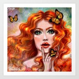 Persephone goddess of the underworld Art Print