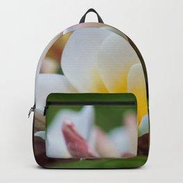 White Spring Flower Backpack