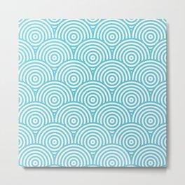 Scales - Light Blue & White #984 Metal Print
