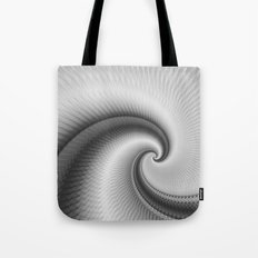 The Big Wave Spiral in Monochrome Tote Bag