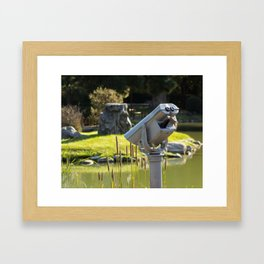 Pondside Panoramic Visor Framed Art Print