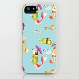More Fishes in Jumpers Carrying Umbrellas  iPhone Case