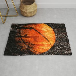 Basketball art print life vs 5 Rug