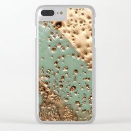 Melting Gold - Encaustic painting on stone Clear iPhone Case