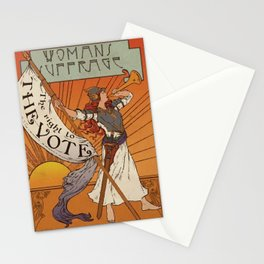 Women's Suffrage - The Right To The Vote Stationery Cards