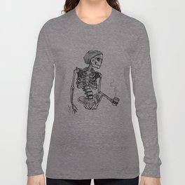Hipster Skelly Long Sleeve T-shirt