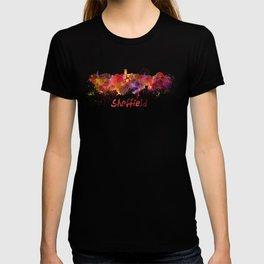 Sheffield skyline in watercolor T-shirt