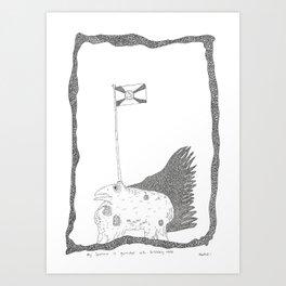 my sparrow is garnished with buckleberyy welk Art Print