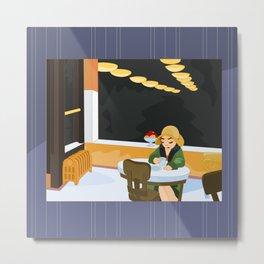 Automat by Hopper Metal Print