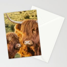 Mother and child. Highland Cows of Scotland....(heilan coo's) Stationery Cards