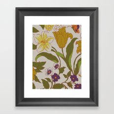 flower knit Framed Art Print