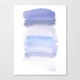 Lilac grey watercolor fantasy Canvas Print