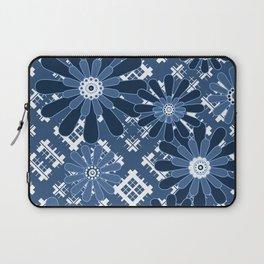 Blue flowers , flowers , plaid Laptop Sleeve