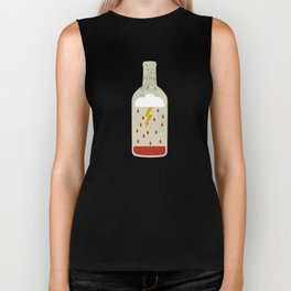 wine bottle Biker Tank