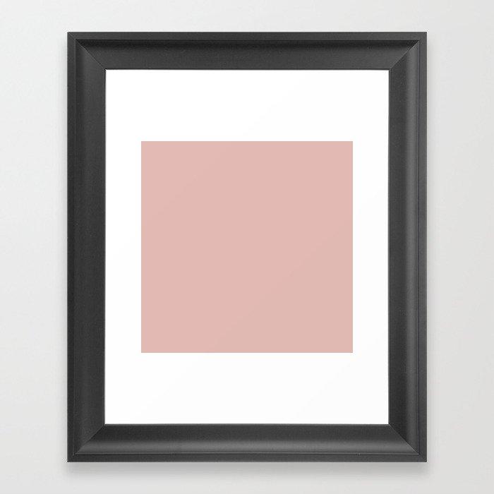 Solid Color Rose Gold Pink Gerahmter Kunstdruck