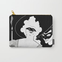 Carnival or Masquerade Ball black and white art Carry-All Pouch