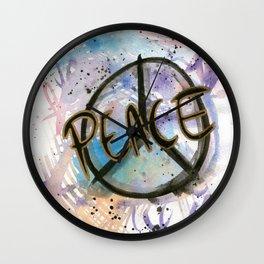 Peace Sign Art Print Wall Clock