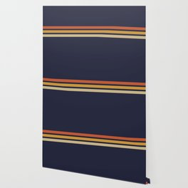 Vintage Retro Stripes Wallpaper