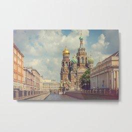 Saint Petersburg, Church of the Savior on Spilled Blood Metal Print