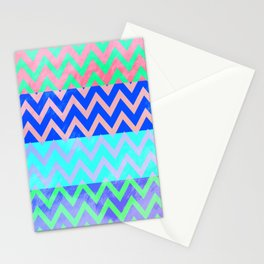 Chevron Spring Stationery Cards