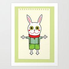 Waffel - rabbit Art Print