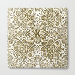 Moorish -henna Metal Print