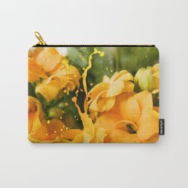Yellow/orange Kalanchoe Flower Carry-All Pouch