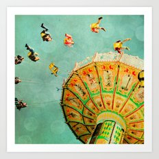You Spin Me Right Round Carnival Swing Art Print