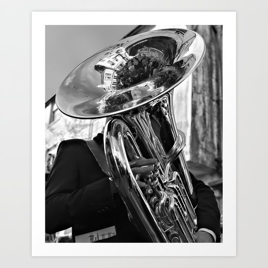 The Tuba Player Entertains Art Print