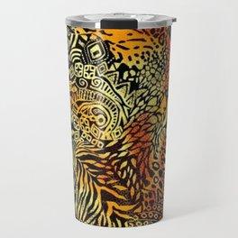 Africa style pattern Travel Mug