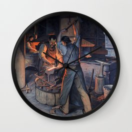 At Forgery Wall Clock