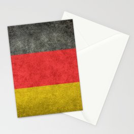 German National flag, Vintage retro patina Stationery Cards