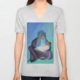 Mary and The Baby Messiah Unisex V-Neck