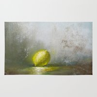 lemon Area & Throw Rugs featuring Lemon by Paul V