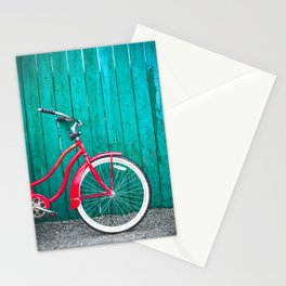 Red Retro Bicycle Stationery Cards