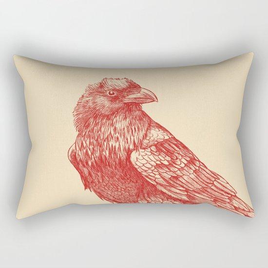 Red Raven  Rectangular Pillow