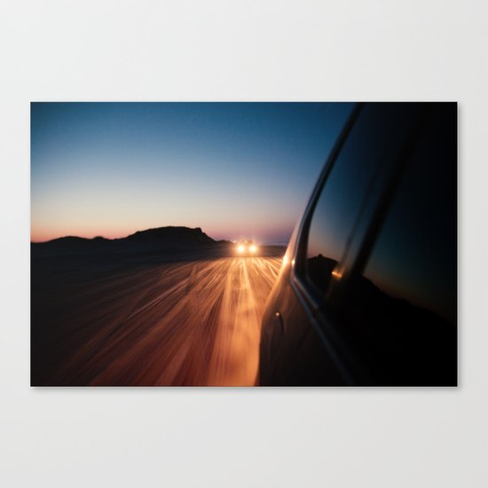 4x4 Sunset Drive Canvas Print