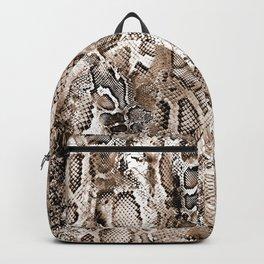 Tan Snakeskin  Backpack