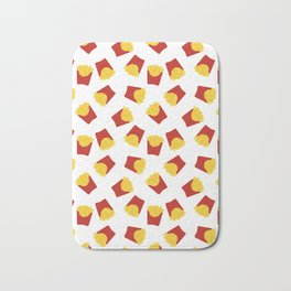 FRENCH FRIES POMMES FAST FOOD PATTERN Bath Mat
