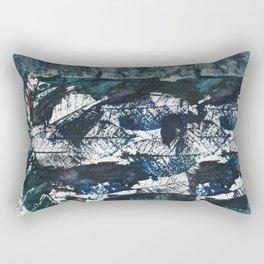 Bare bones in teal blue Rectangular Pillow