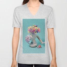Floral colors Unisex V-Neck