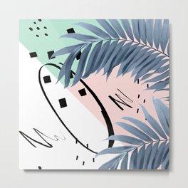 Summer Palms Cali Vibes Abstract Glam #1 #tropical #decor #art #society6 Metal Print