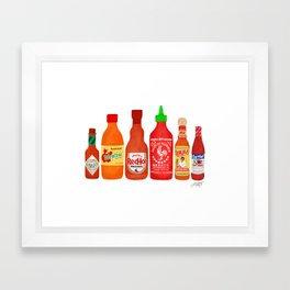Hot Sauces Framed Art Print