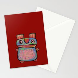 Rabbit work out Stationery Cards
