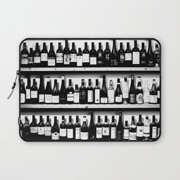 Wine Bottles in Black And White #decor #society6 #buyart Laptop Sleeve