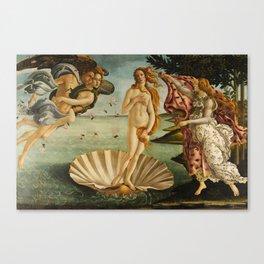 The Birth Of Venus Painting Sandro Botticelli Canvas Print