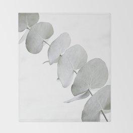 EUCALYPTUS WHITE 3 Throw Blanket