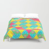 transparent Duvet Covers featuring Transparent Triangle by Lillian Cassidy