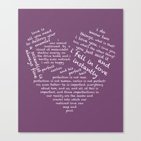 wtnv Canvas Prints featuring Quotes of the Heart - Cecilos (White) by fairy911911